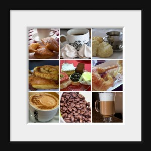 coffee pastry mosaic matte